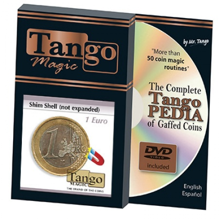 1 Euro Expanded Shell (magnetisch) by Tango Magic inkl. Tangopedia-DVD
