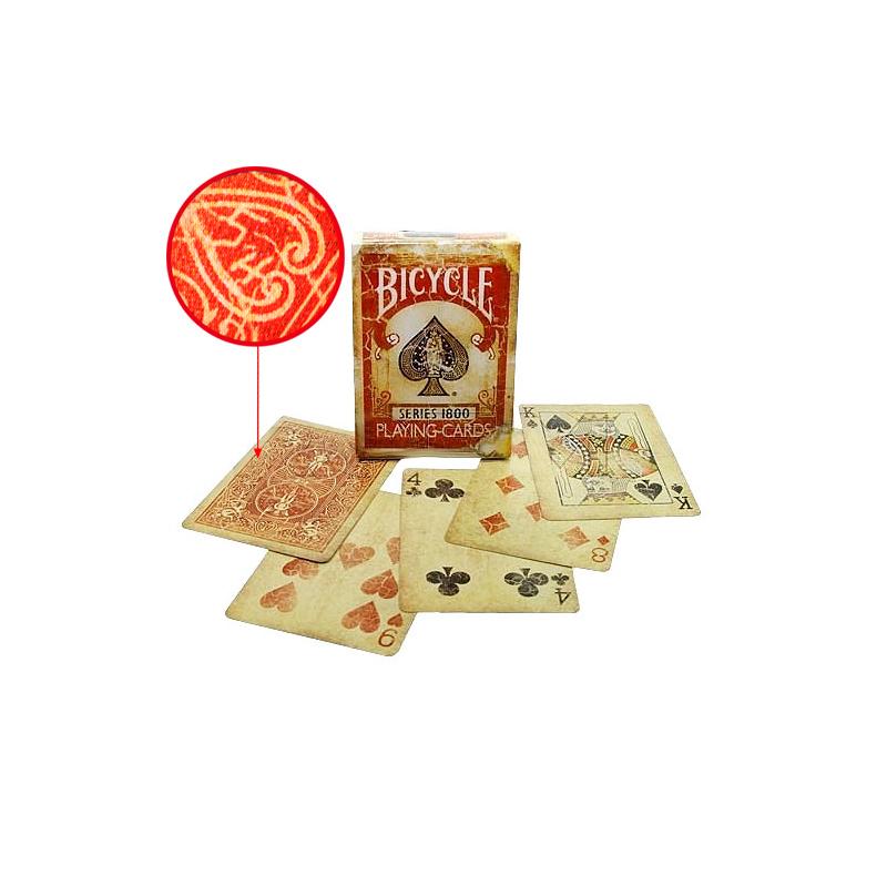 Bicycle Deck - Vintage Series 1800 (Rot) inkl. Markierungssystem - Zaubertrick Zauberartikel Zaubertricks
