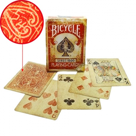 Bicycle Deck - Vintage Series 1800 (Rot) inkl. Markierungssystem
