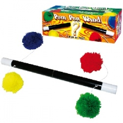 Super Pompon Stick - Schnurstab in Zauberstab-Optik...