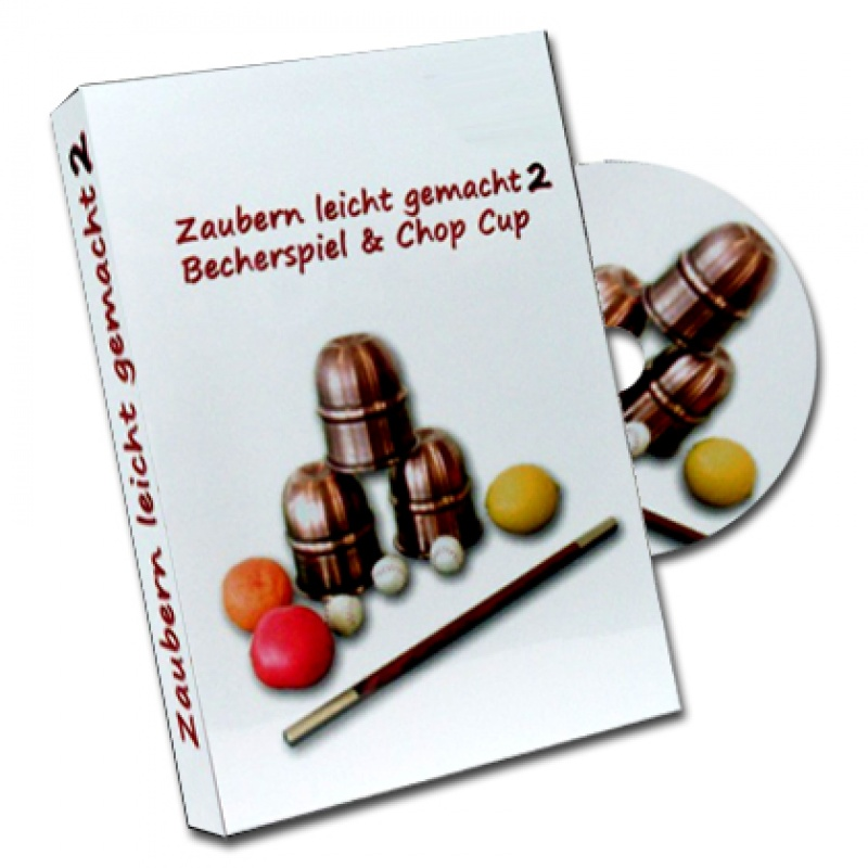 Becherspiel & Chop Cup Lehr-DVD inkl.  Kaffeewette-Gimmick - Zaubertrick Zauberartikel Zaubertricks