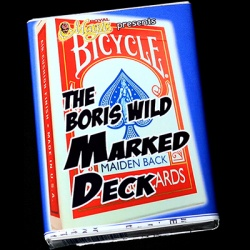 The Boris Wild Marked Deck, Bicycle Maiden Back RED