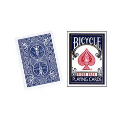 Invisible Deck, Bicycle Blau (Rider Back)
