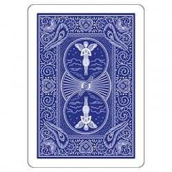 Invisible Deck, Bicycle Blau (Mandolin Back)
