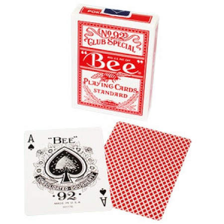 Bee Playing Cards Standard, Rot