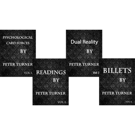 4 Volume Set of Reading, Billets, Dual Reality and Psychological Playing Card Forces by Peter Turner eBook DOWNLOAD