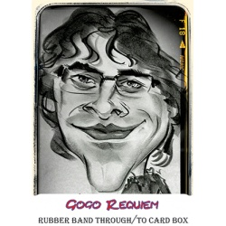 Rubber band through/to card box by Gogo Requiem video...