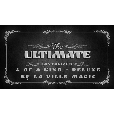 The Ultimate Tantalizer - 4 Of A Kind Deluxe By  Lars La Ville/La Ville Magic video DOWNLOAD