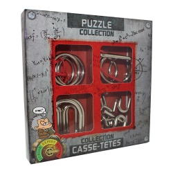 Metal Puzzle Collection Extrem, 4 Geduldspiele aus Metall...