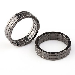 Himber Ring Black - Klassischer Linking Finger Ring in...