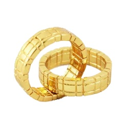 Himber Ring Gold - Klassischer Linking Finger Ring in...